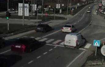 Başka Aracın Plakasını Takan Sürücü Drone'dan Kaçamadı!