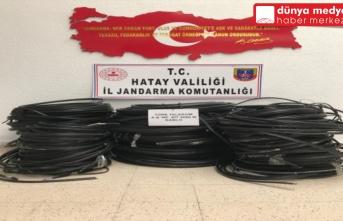 Arsuz'da Kablo Hırsızları Yakalandı!