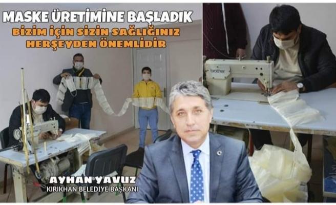 Başkan Yavuz Tedbirde Sınır Tanımadı ve Maske Üretimine Başlattı