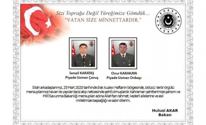 Terör örgütünün havanlı saldırısında 2 askerimiz şehit oldu, 2 askerimiz yaralandı