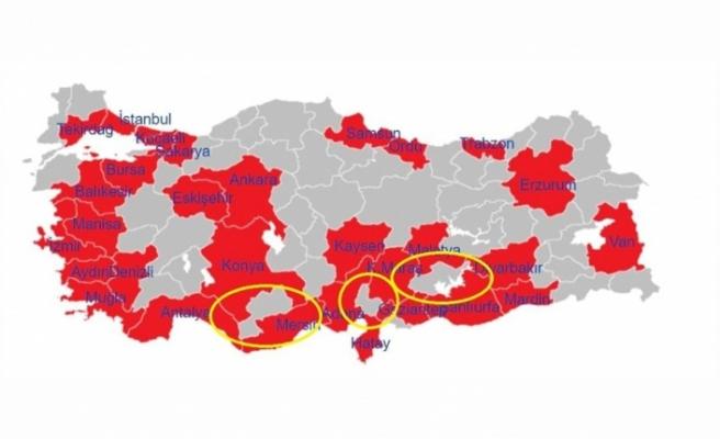 Büyükşehirlerden çıkış yasaklanınca Karaman,Kilis, Osmaniye ve Adıyaman şehirleri de yasaklı sayıldı