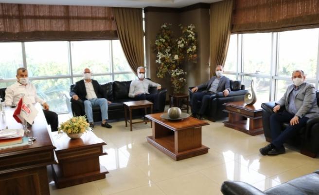 Ak Parti Hatay Milletvekili Özel ve ilçe Başkanı Güven İTSO'yu ziyaret etti