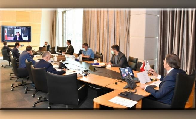 İTSO Başkanı Yılmaz,  TOBB'da Video Konferans yöntemiyle gerçekleştirilen toplantılara katıldı