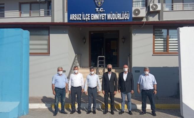 İTSO Yönetiminden Arsuz Emniyet Müdürü Kalkan'a Hayırlı Olsun Ziyareti