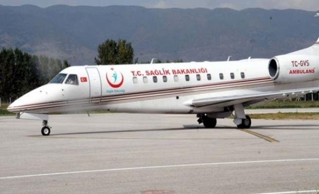 Ambulans uçak, Suriye'den getirilen kalp hastası 2 bebek için havalandı