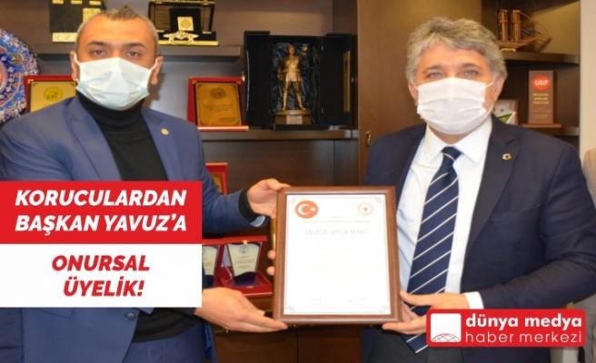 Koruculardan Başkan Yavuz'a Onursal Üyelik!