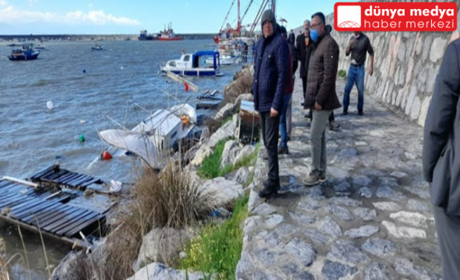 Dörtyol'daki Balıkçı Barınağında Tekneler yine Barınamadı!