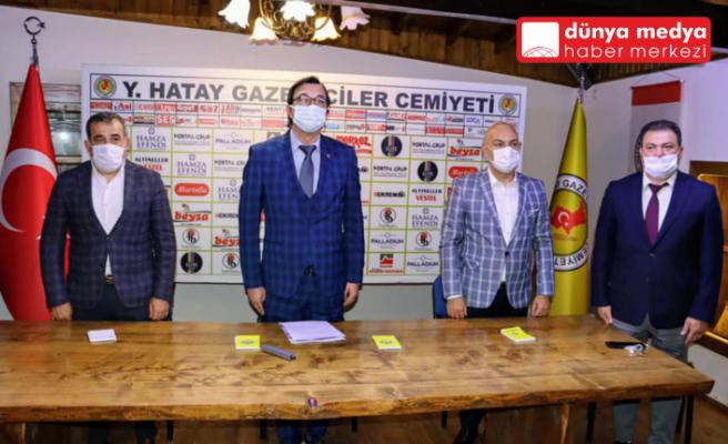 Akdeniz Gazeteciler Federasyonu   Genel Kurulu   Hatay Gazeteciler Cemiyeti'nde Yapıldı