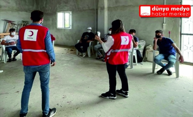 Hatay Türk Kızılayı   650 adet ilk yardım kiti dağıttı