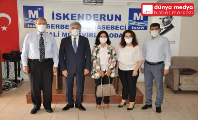 SGK Hatay İl Müdürü Hamit Bal   Muhasebeciler Odasını Ziyaret Etti