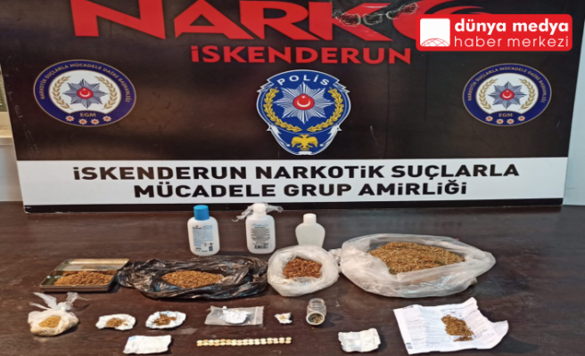 İskenderun'da Uyuşturucu Operasyonu