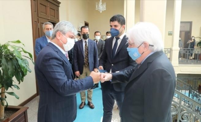 BM Acil Yardım Koordinatörü  Martin Griffiths  Hatay Valisi Doğan'ı  ziyaret etti