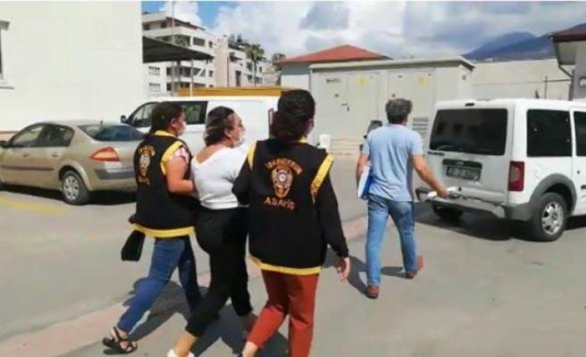 Hakkında 12 yıl 6 ay cezası olan   kadın İskenderun'da yakalandı