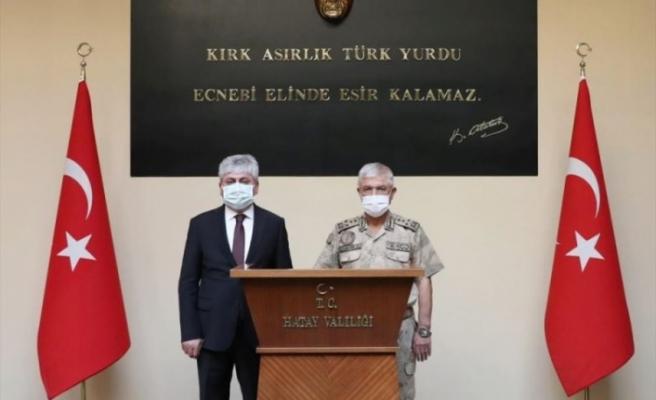 JANDARMA GENEL KOMUTANI ORGENERAL ARİF ÇETİN,   HATAY'DA ZİYARETLERDE BULUNDU