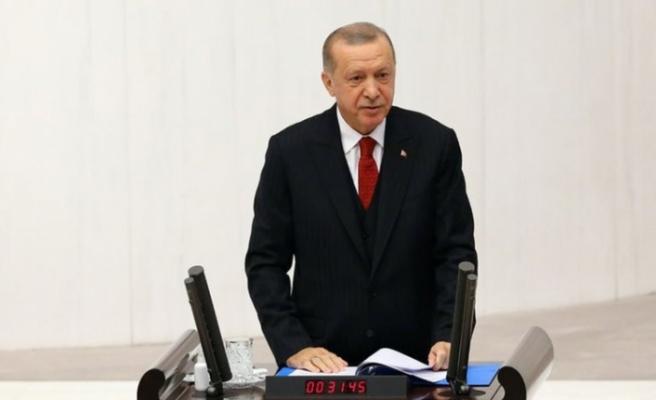 Cumhurbaşkanı Erdoğan Meclis   açılışında yeni anayasa mesajı