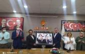 MHP'DEN  AK PARTİYE HAYIRLI OLSUN ZİYARETİ