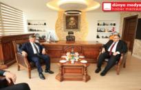 Davutoğlu'ndan Necmettin Çalışkan'a   Taziye Ziyareti