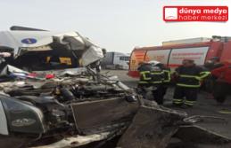Erzin'de zincirleme trafik kazası! 5 yaralı!