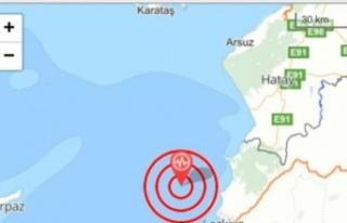Hatay 4,7 depremle sallandı!