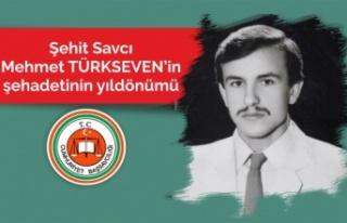 Savcı Mehmet TÜRKSEVEN'in Şehadetinin yıldönümü