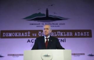 MHP Lideri Devlet Bahçeli, Demokrasi Adası açılışında...