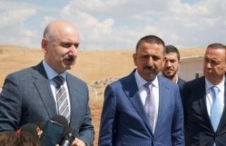 Ulaştırma ve Altyapı Bakanı Karaismailoğlu Siirt'te