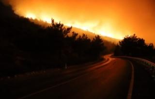 Menderes'teki yangın sürüyor: İki site boşaltıldı