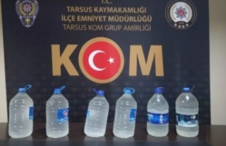 Tarsus'ta kaçak içki üreten şüpheli yakalandı