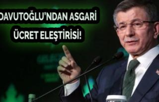 Davutoğlu'ndan Asgari Ücret Eleştirisi!