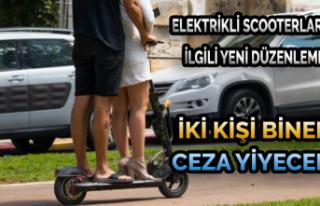 İki kişi Binen Ceza Yiyecek: Elektrikli Scooterlarla...