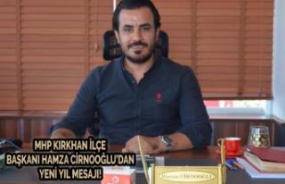 MHP Kırkhan İlçe Başkanı Hamza Cirnooğlu'ndan...