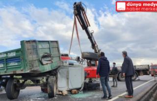 Kırıkhan'da Traktör Devrildi Traktör Sürücüsü...