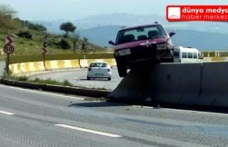 Belen'de bir garip kaza!