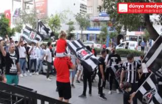 Hatay'da Beşiktaş taraftarları şampiyonluğu...