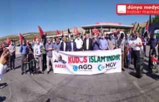 Hatay'dan Kudüs için   destek konvoyu