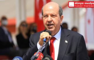 Kıbrıs Cumhurbaşkanı Ersin Tatar'dan Rum lider...
