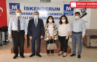 SGK Hatay İl Müdürü Hamit Bal Muhasebeciler Odasını...