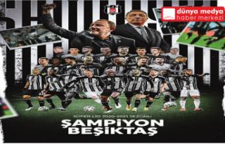 Süper Lig'de tarihi sezonun şampiyonu Beşiktaş...