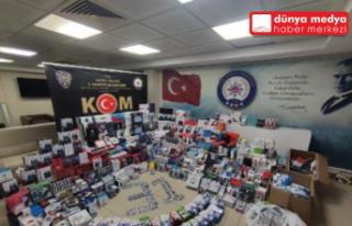 Hatay´da 8 bin 571 parça kaçak elektronik ürün...