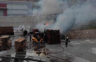 Hatay'da Mobilya atölyesinde yangın!