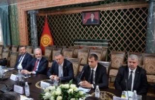 İTSO Heyeti Kırgızistan Yatırım Bakanı Almambet...