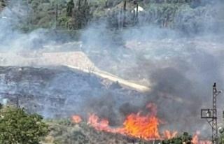 Samandağ'da Korkutan   Bahçe Yangını