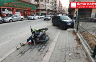 Samandağ'da Korkutan Motor Kazası 2 Yaralı...