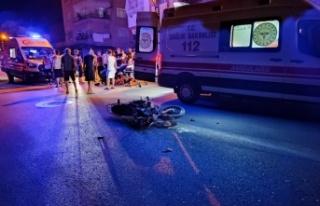 Samandağ'daOtomobil ile motosiklet çarpıştı:...