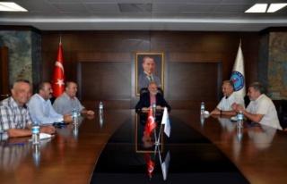 MUHTARLAR DERNEĞİ YÖNETİMİNDEN İTSO'YA...