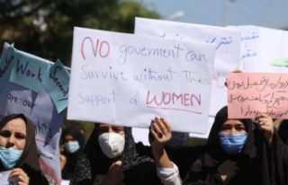 Afganistan'da kadınlar hakları için gösteri...