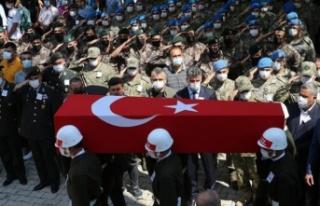 AFRİN ŞEHİDİ TURGAY ABACI HATAY'DA SON YOLCULUĞUNA...