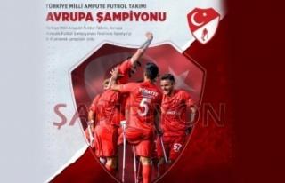 Ampute Futbol Milli Takımı Avrupa şampiyonu!