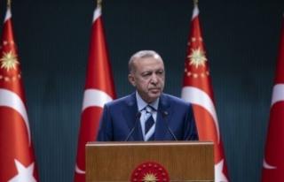 Cumhurbaşkanı Recep Tayyip Erdoğan açıklamalarda...