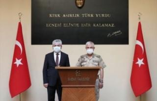 JANDARMA GENEL KOMUTANI ORGENERAL ARİF ÇETİN, HATAY'DA...